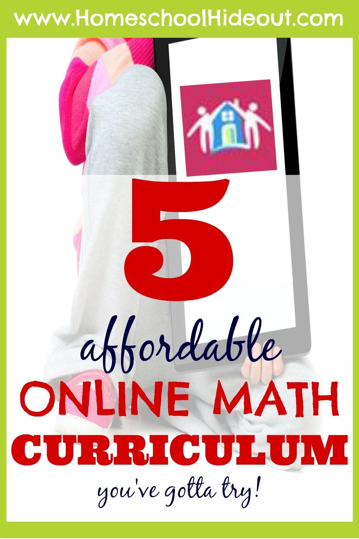 5 Affordable Online Homeschool Math Curriculum | Homeschool math ...