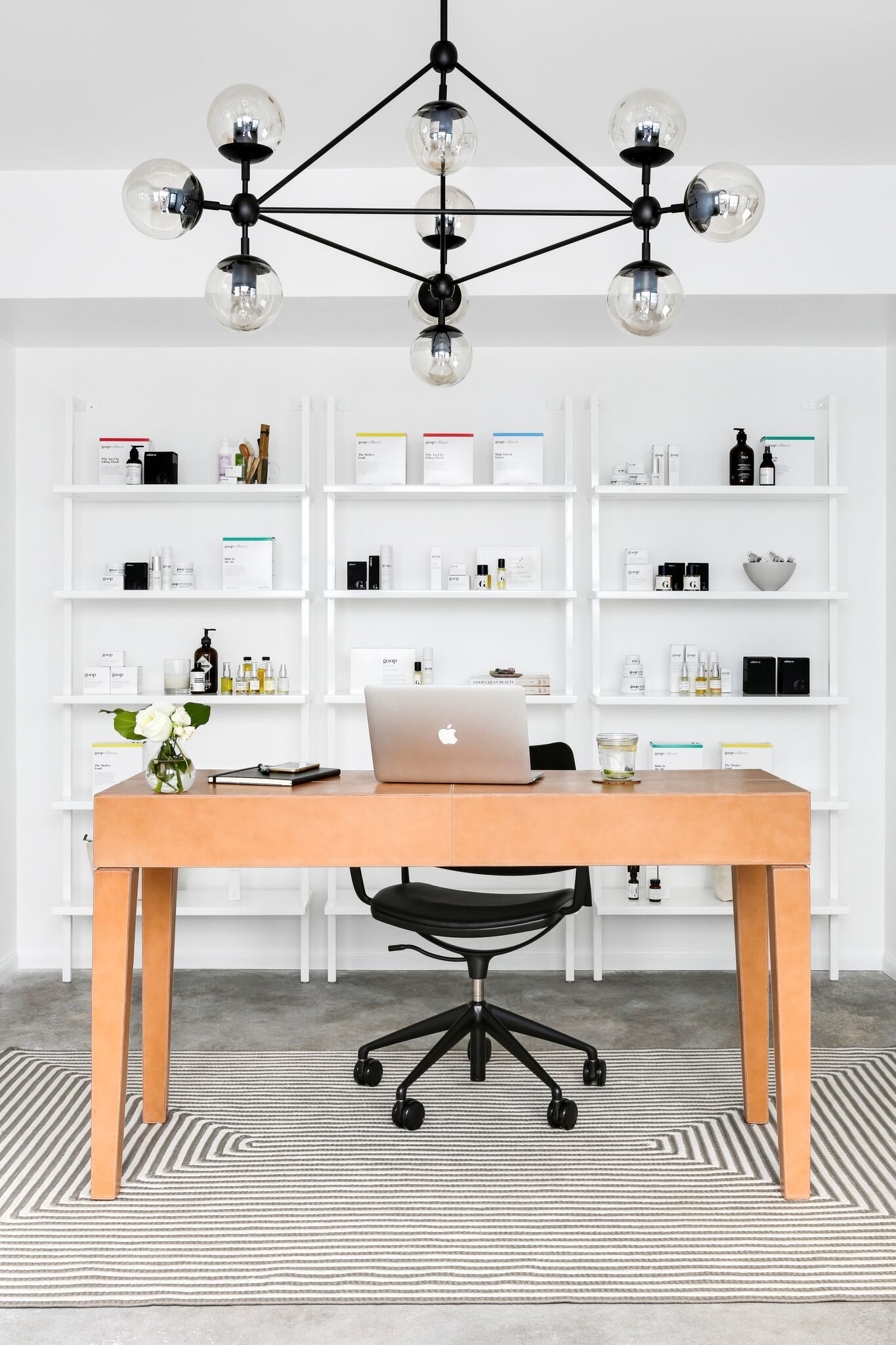 Our designer mel burstin turned a farmhouse into a streamlined functional office extension for goop hq