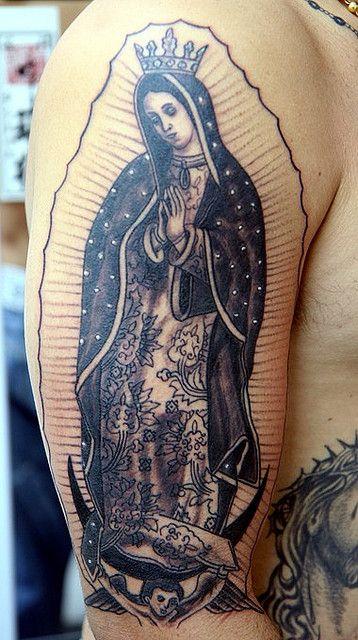 Lady Of Guadalupe Tattoo : guadalupe, tattoo, Guadalupe-virgin-mary-tattoo-on-arm, Tattoo,, Virgin, Sleeve, Tattoos