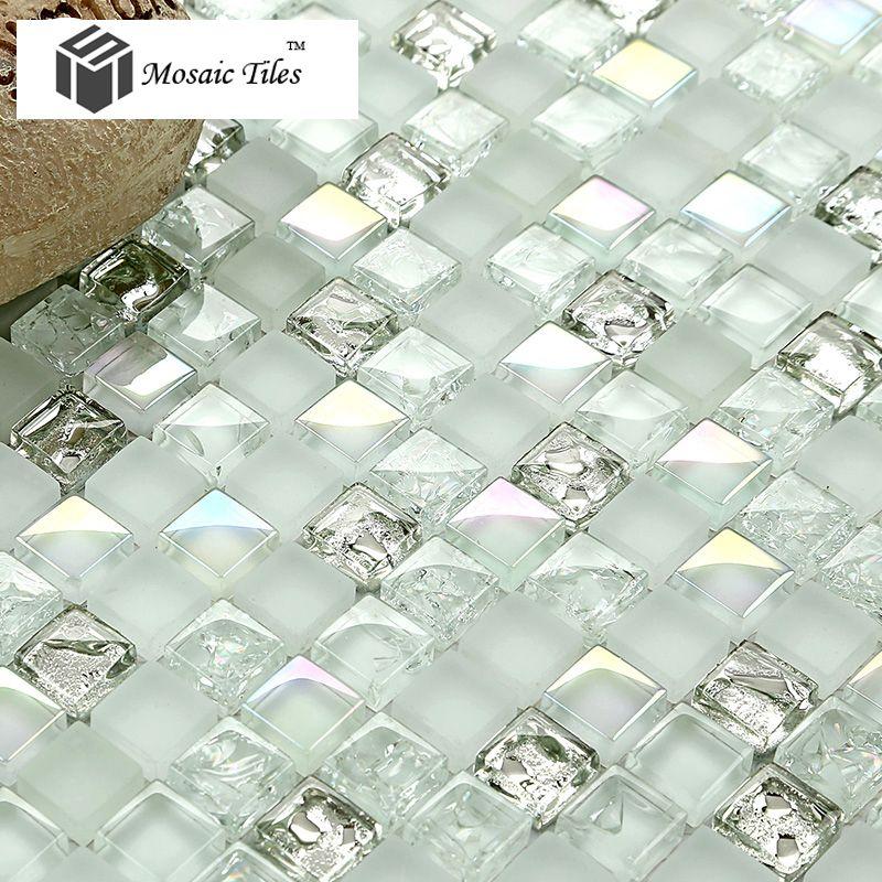 Tst Crystal Glass Mosaic Tile Red Orange Strip Interlocking