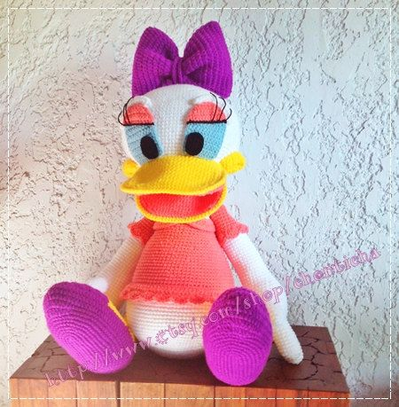 Daisy Duck 30 Inches Pdf Amigurumi Crochet Pattern Little Girl