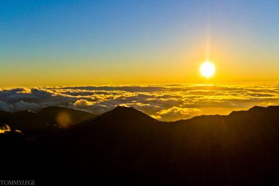8X10 Sun over Haleakala Maui Hawaii at by TommyLegePhotography, $20.00