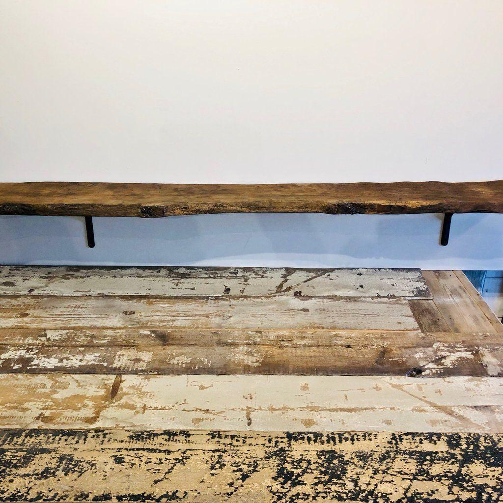 Wall Shelf Aged Antique Oak Barn Wood