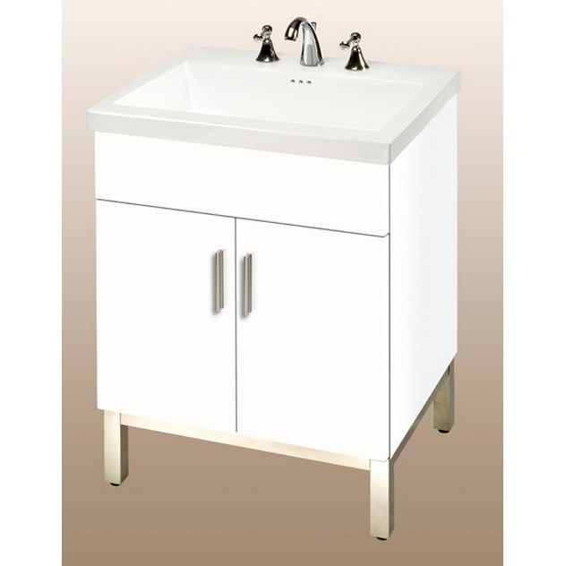 Empire Industries Daytona Two Doors Vanity In White Gloss For Kira Ceramic  Sink Top