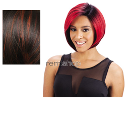 Equal (SNG) Invisible L Part Wig Black Jack - Color DN350 - Synthetic (Curling Iron Safe) Invisible L-Part Wig - Closed Invisible Part