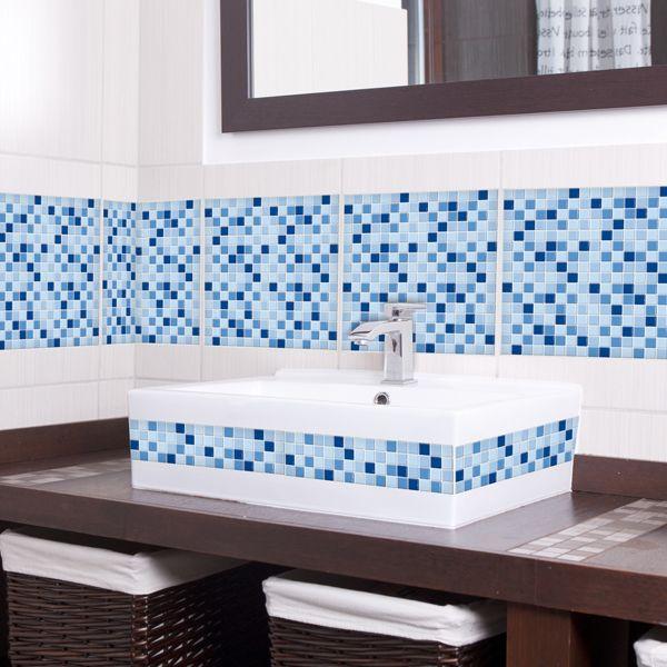 Piastrelle da bagno adesive! rifai il rivestimento del bagno con ...