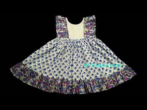 4244616edc93 How to learn kid s summer simple cotton baby frock DIY - YouTube ...