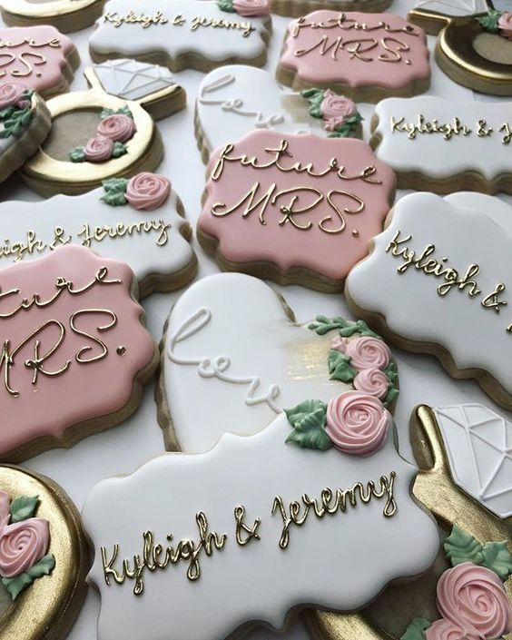 Wedding and Bridal Shower Cookies - Blush & Pine Creative