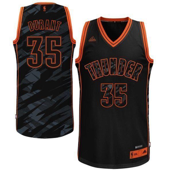 adidas Kevin Durant OKC Thunder Stacked Fashion NBA Swingman Jersey Mens