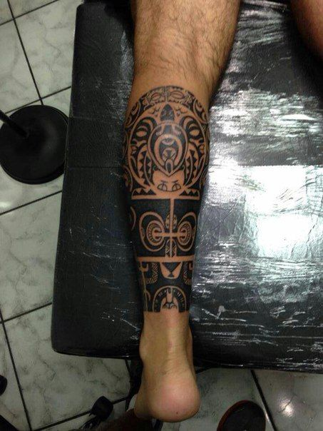 полинезийская татуировка Maori Bein Pinterest