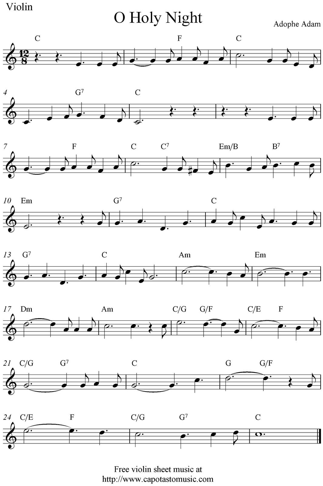Free Christmas Music.Violin Sheet Music Christmas Music Sheet Music Scores O