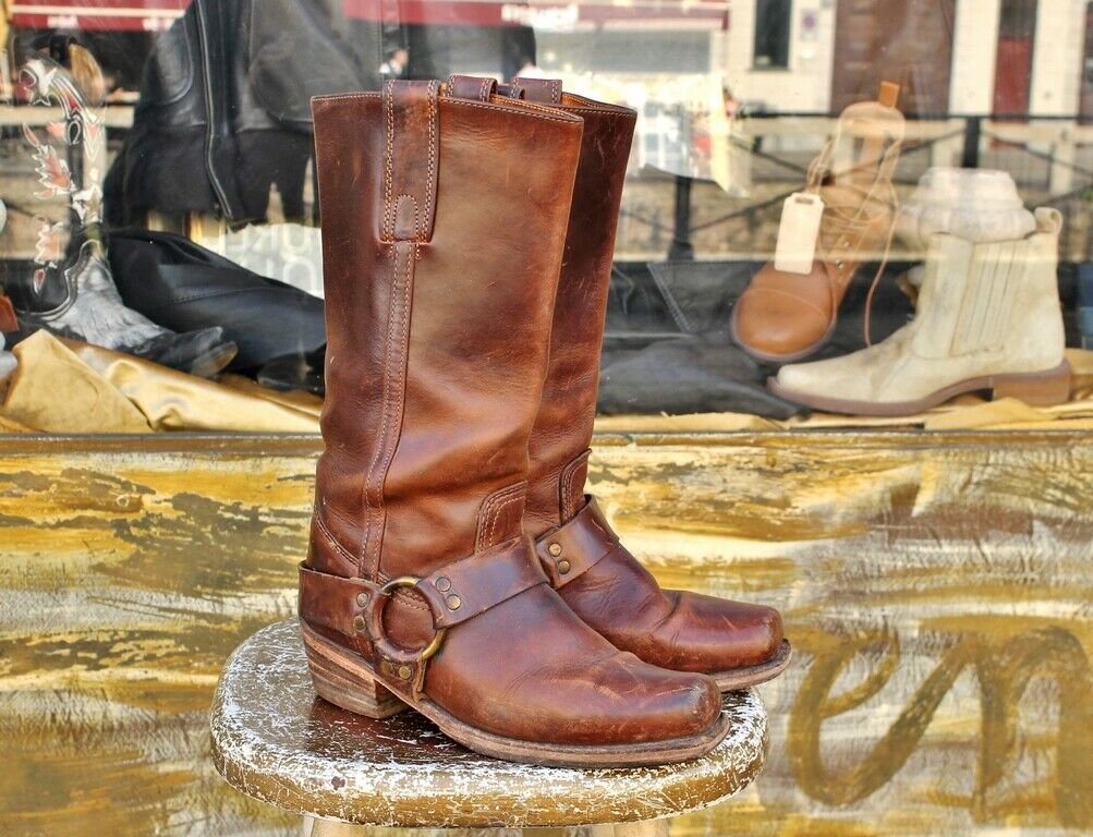 Stivale pelle camperos cowgirl FRYE MADE IN U.S.A. 7 12 (38