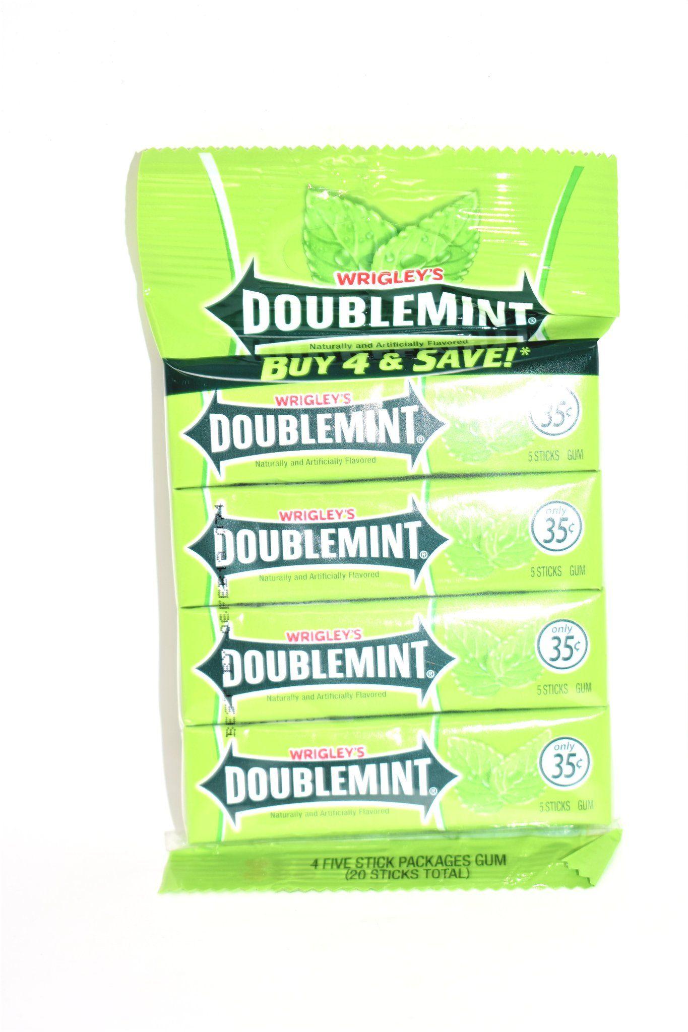 Wrigley S Doublemint Flavored Gum 20 Sticks Marketcol Gum Flavors Gum Chocolate Candy Brands