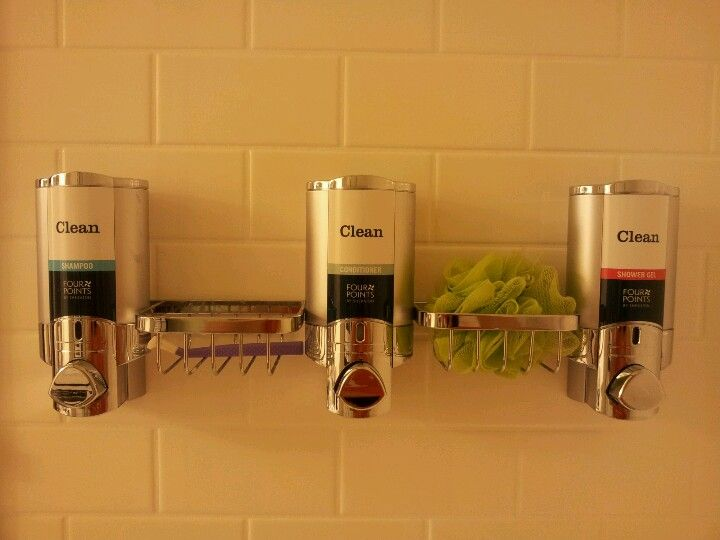 Wall Mounted Dispenser For Shampoo Conditioner And Body Wash With
