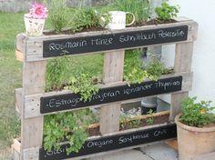 Un jardin vertical en palettes #kräutergartenpalette