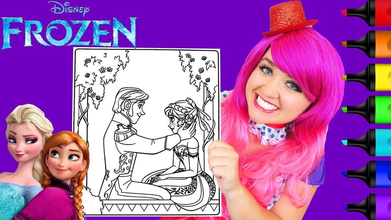 Coloring Frozen Anna Hans Disney Coloring Page Prismacolor Markers K Disney Colors Disney Coloring Pages Coloring Stickers
