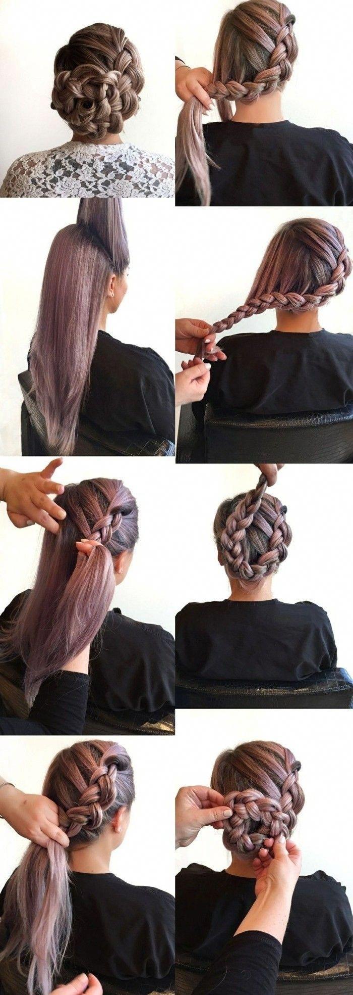 einfache-frisuren-lange-glatte-haare-zopf-frisur-selber-machen