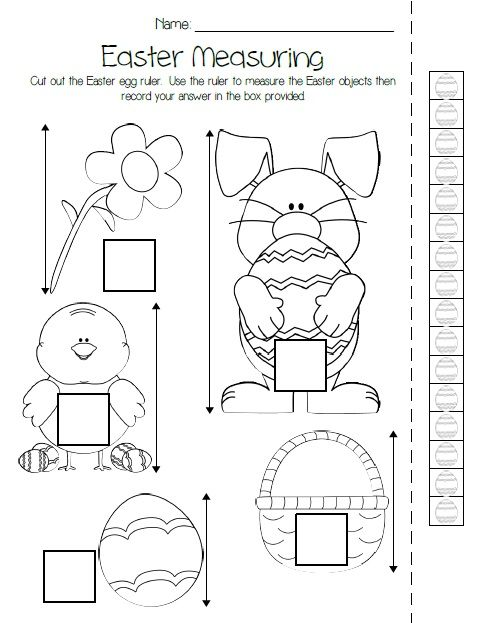 printable easter measuring activity kindergarten free printable and easter. Black Bedroom Furniture Sets. Home Design Ideas