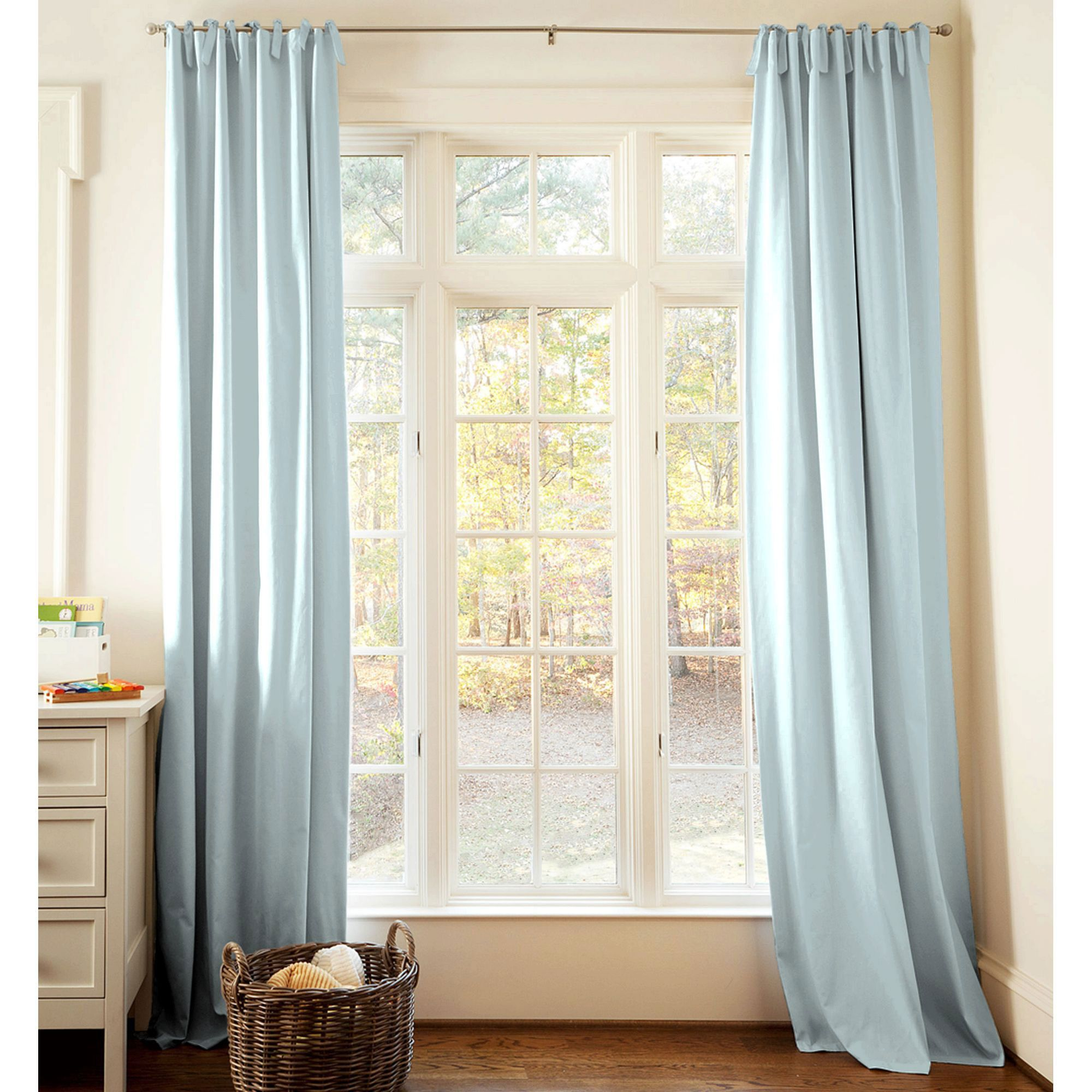 Solid Robin\'s Egg Blue Drape Panel | Kid Rooms | Light blue curtains ...