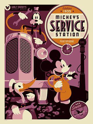 MickeySS - Poster by Tom Whalen