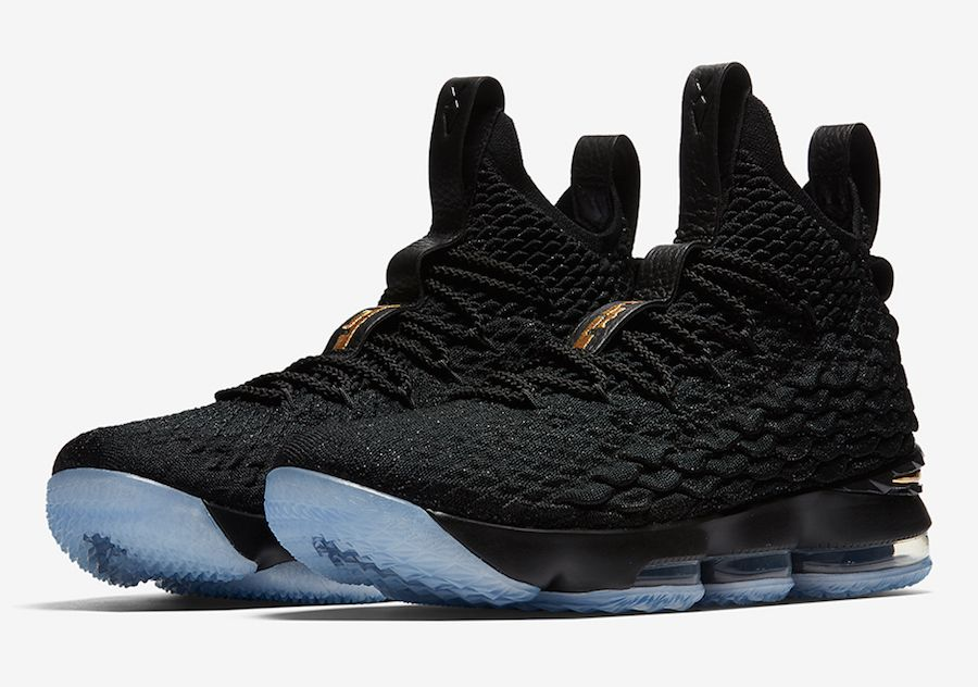 Release Date  Nike LeBron 15 Black Metallic Gold  6423db9f78ace