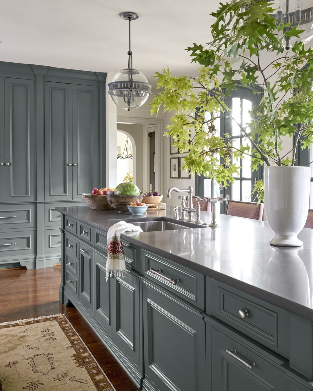 All About Cabinets And Countertops: Grey Kitchen Cabinets, Green Kitchen Cabinets, Blue