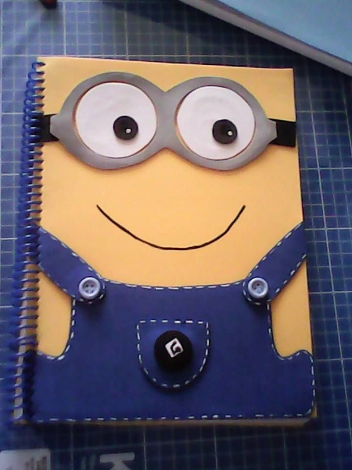 Diy Minion Book Cover : Pin by emily on fun pinterest minions notebook and