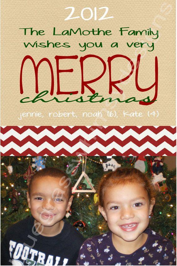 Christmas Photo Card Red Chevron Christmas photos