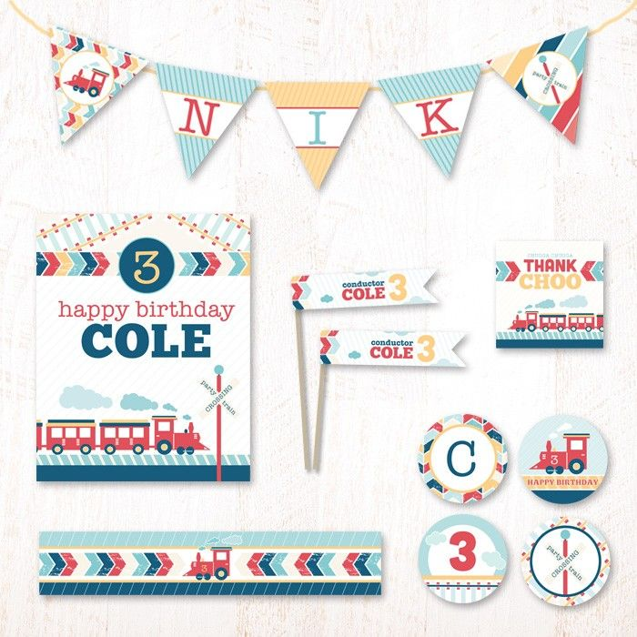 All Aboard Birthday Party Kit | Hostess Ink