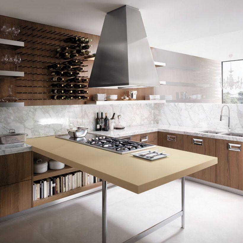 Kitchen : Modern Italian Kitchen Designs Huge Stainless Vent Hood Wooden Kitchen  Counter Marble Counter Top