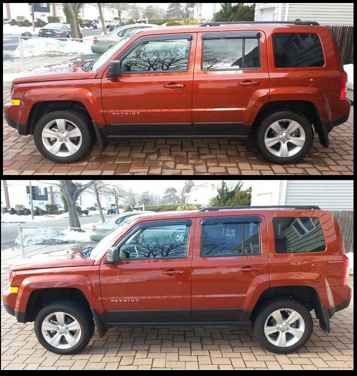 Jeep Patriot Lift Kit Before And After Jeep Patriot Jeep Patriot Lifted Jeep