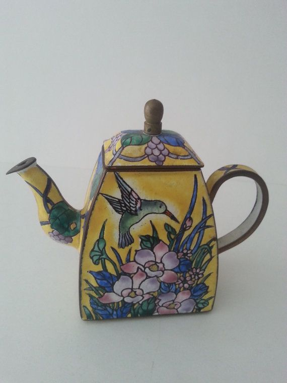 Good Kelvin Chen MIniature Teapot Enamel On Brass Hummingbird With Flowers Kelvin  Chen Teapots Are Made With Home Design Ideas