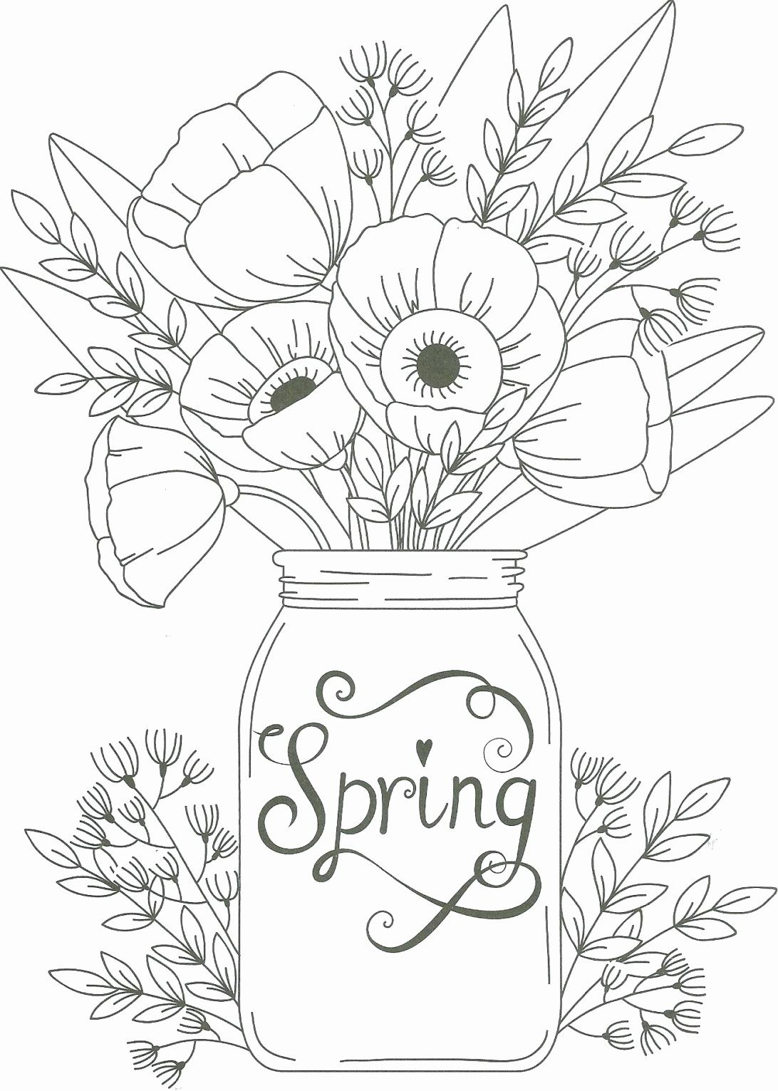 Bouquet Of Flowers Coloring Page Flower Coloring Pages Flower Coloring Sheets Printable Flower Coloring Pages