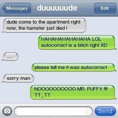 It wasn't autocorrect!