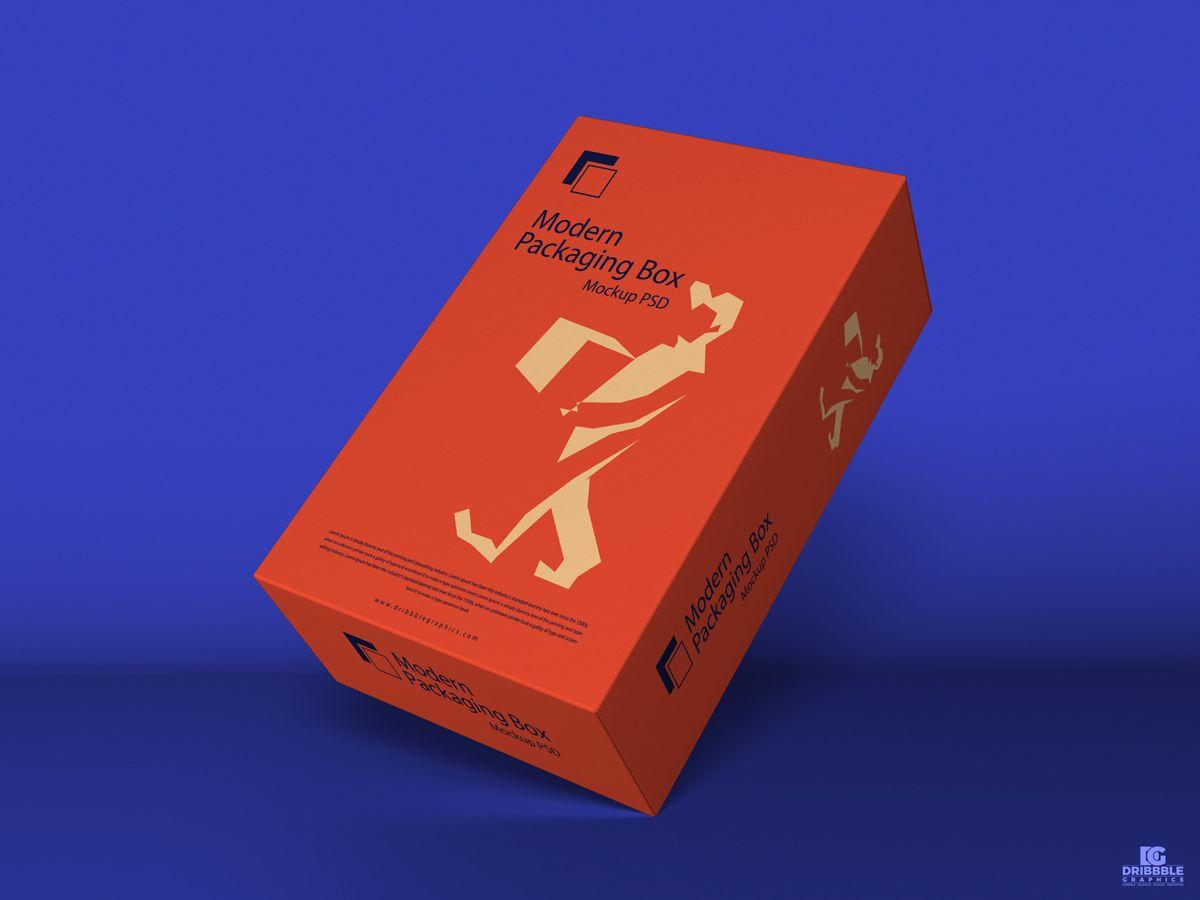 Download Free Modern Packaging Box Mockup Psd 2018