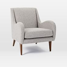 Sebastian Chair, Deco Weave, Feather Gray is part of Living Room Chairs Libraries -