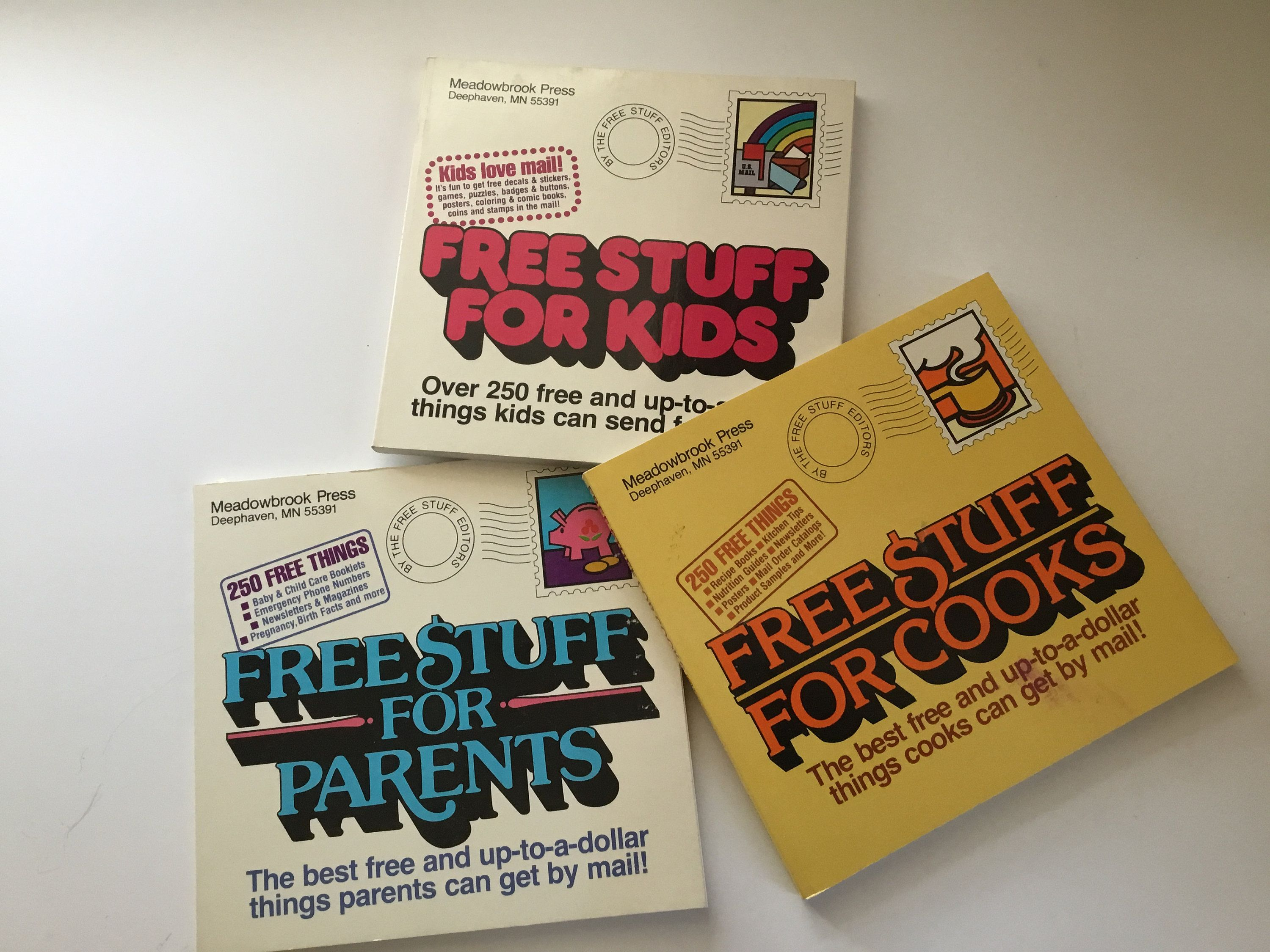 Free Stuff Mail IN Meadow Press Paperback Books From 1980s (Great