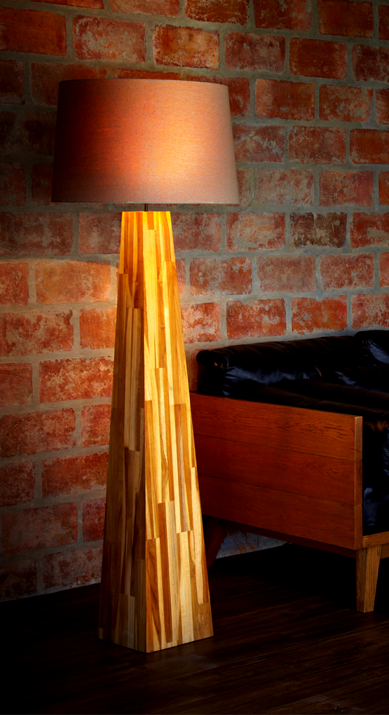 Handcrafted Teak Floor Lamp The Piece Of Art Is Made From