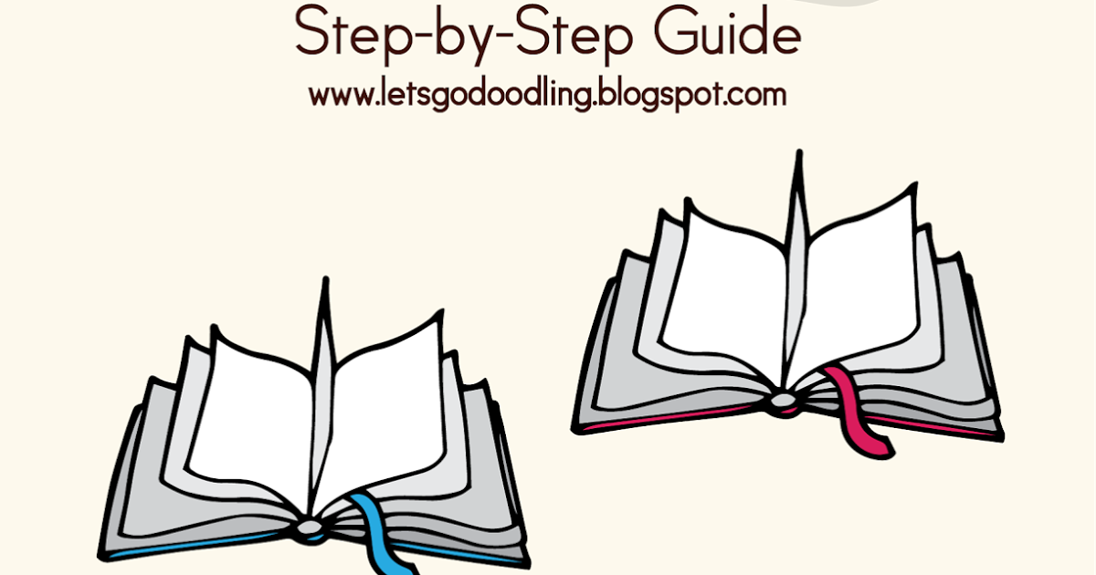How To Draw Open Book Easy Step By Step Drawing Tutorial Open