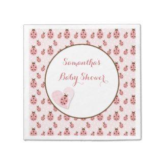 Pink Love Bug, Baby Girl Disposable Napkins