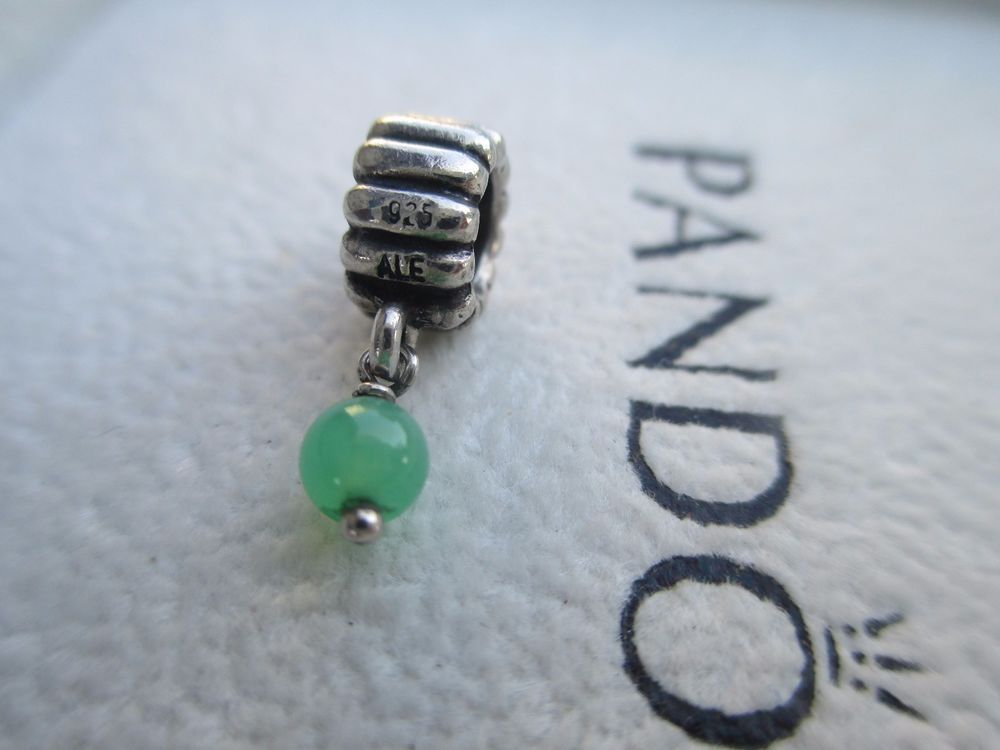 cf91d6258 Retired Pandora May birthstone dangle CHRYSOPRASE 790166CH STERLING ALE # Pandora