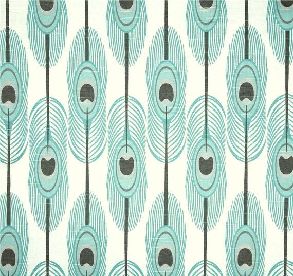 aqua fabric - Home Decor Fabrics By The Yard