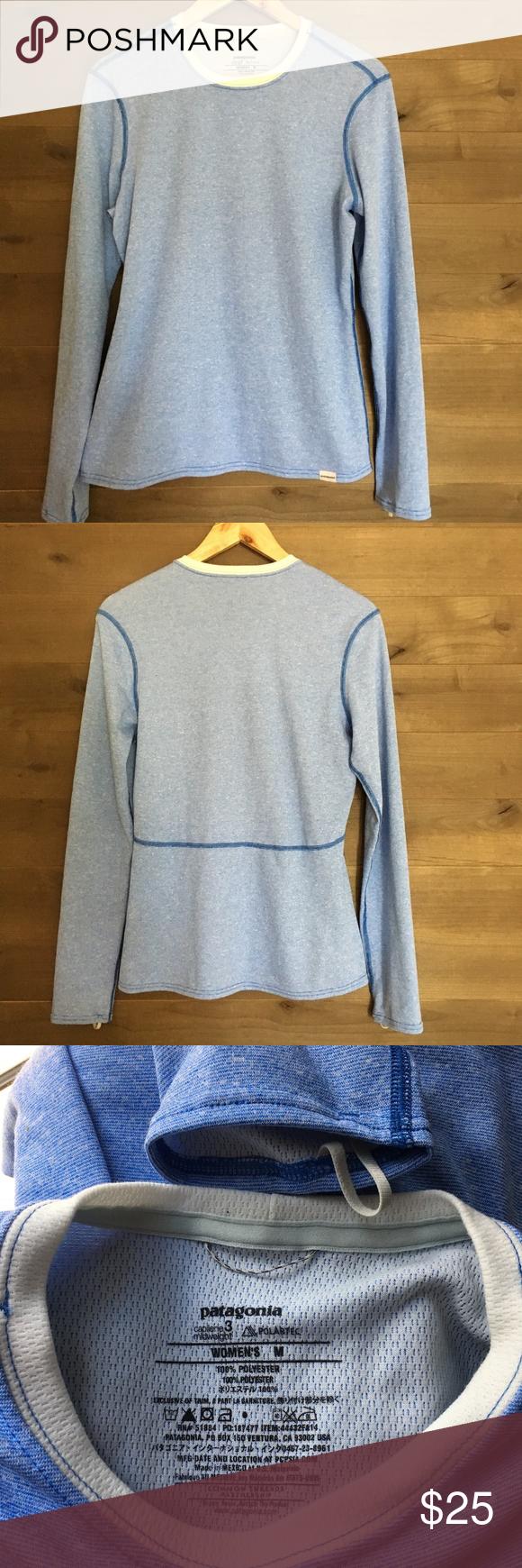 Patagonia Capilene 3 Midweight Crew Top Tee Shirt Tee Shirts Clothes Design Long Sleeve Tees [ 1740 x 580 Pixel ]
