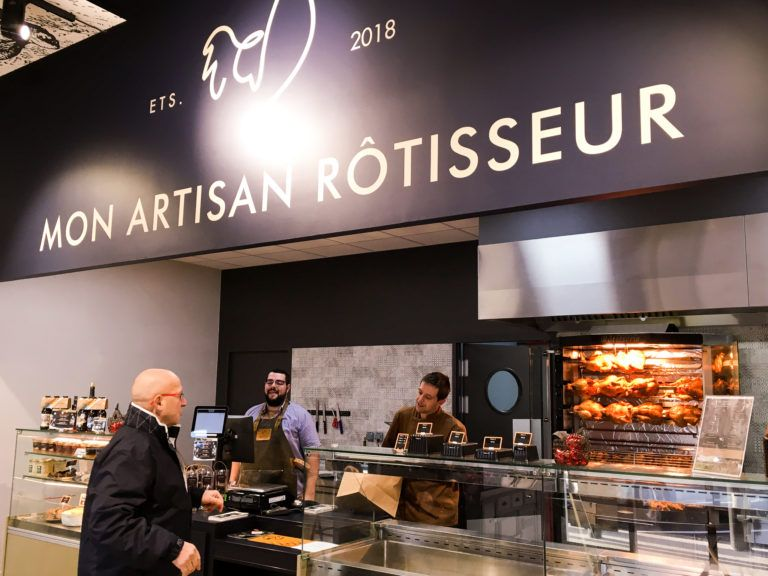 Mon Artisan Rotisseur La Rotisserie Store Design Breakfast Bar