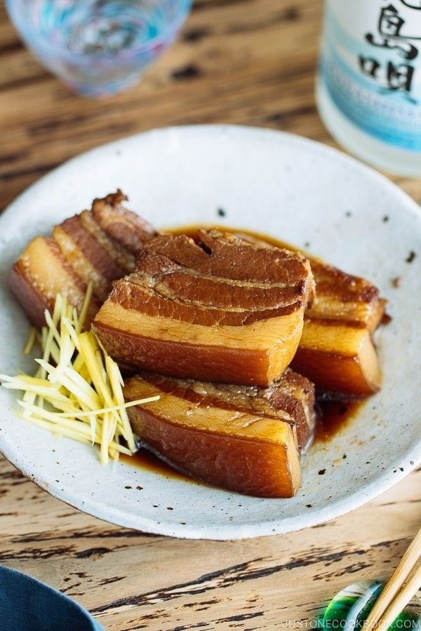 So juicy and tender, this classic Okinawan Braised Pork Belly #Rafute (#ラフテー) is slow-cooked in Awamori (Okinawa distilled liquor), Okinawan black sugar, and soy sauce. It's a classic home cooked dish in #Okinawa #Japan. #OkinawanFood | Easy Japanese Recipes at JustOneCookbook.com