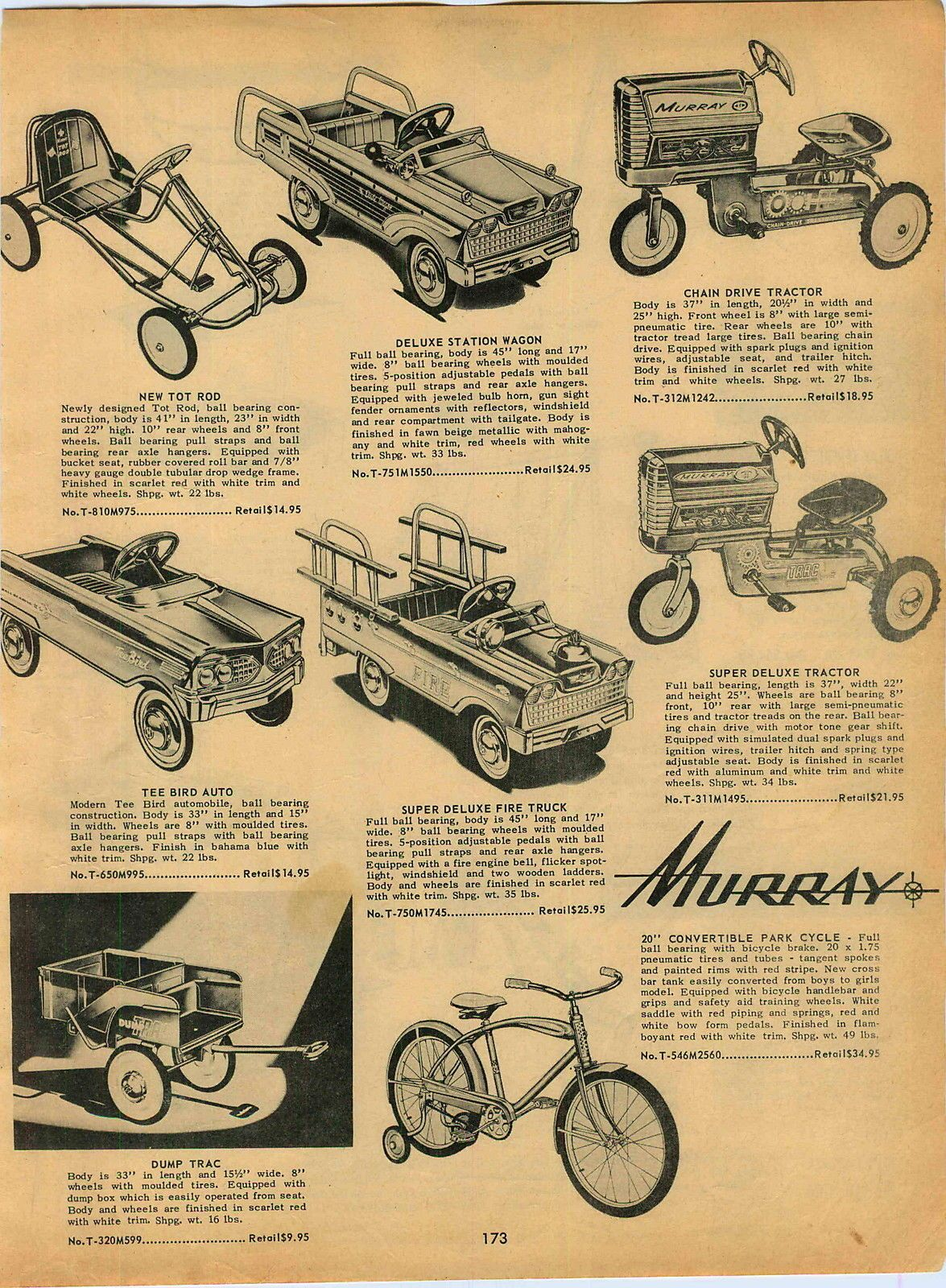 1961 Ad Murray Pedal Cars