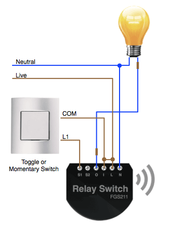 installing the fibaro relay in the light switch diy automation in Bose Home Theater Wiring Diagram