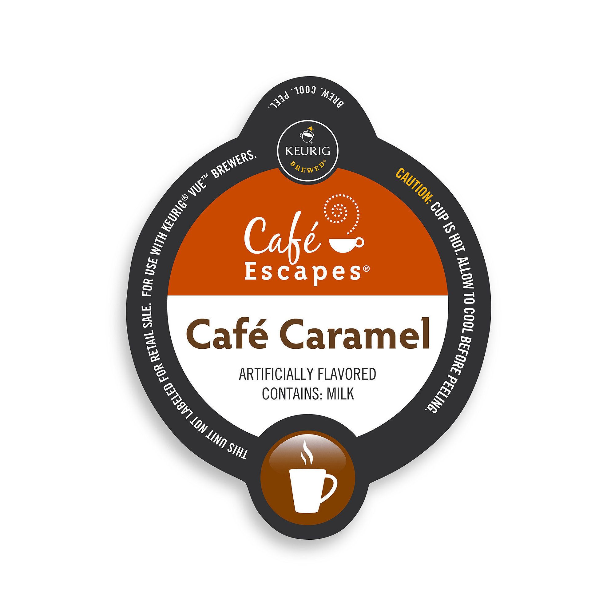 Cafe Escapes Cafe Caramel Specialty, Vue Cup Portion Pack