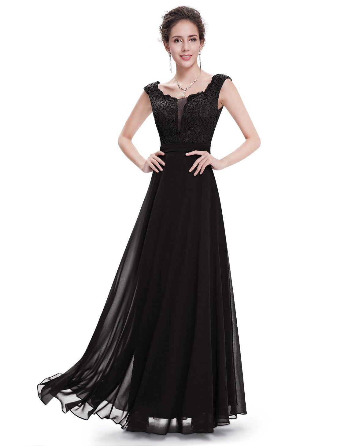 Damen rundhals cocktailkleid elegant schwarz cocktailkleider
