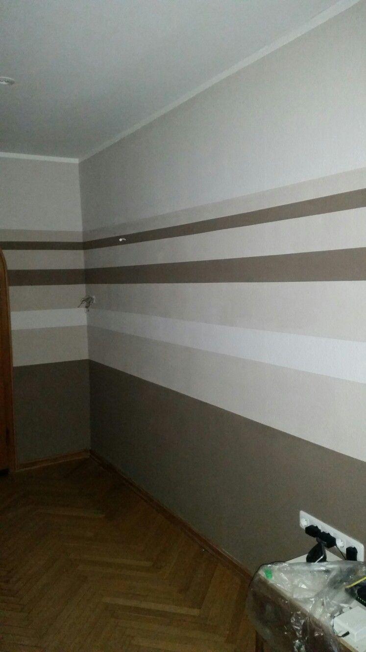 Attraktiv Wohnzimmer Wandgestaltung Streifen